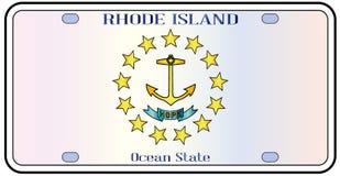Rhode Island Flag License Plate Photographie stock libre de droits