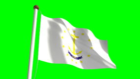 Rhode Island Flag stock video