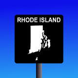 Rhode Island highway sign Stock Image