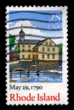 Rhode Island Postage Stamp Immagine Stock