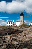 Rhode Island's Beavertail Lighthouse Royalty Free Stock Photos