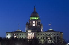Rhode Island State Capitol at dusk, Providence, Rhode Island Stock Photos