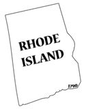 Rhode Island State and Date Royalty Free Stock Images