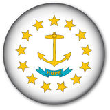 Rhode Island State Flag Button Royalty Free Stock Photos