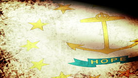 Rhode Island State Flag Waving, grunge look stock footage
