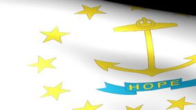 Rhode Island State Flag Waving. Video footage stock video footage
