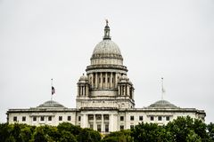 The Rhode Island State House on Capitol Hill in Providence Stock Image