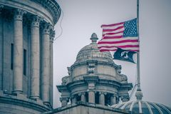 The Rhode Island State House on Capitol Hill in Providence Stock Photo