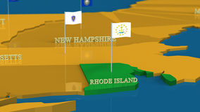 Rhode Island - United States Series with flags Stock Images