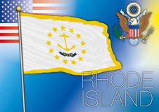 Rhode Island us state flag Royalty Free Stock Photography