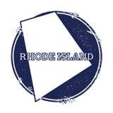 Rhode Island-Vektorkarte Stockbild