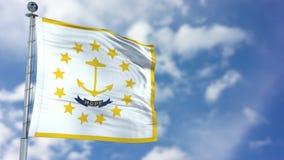 Rhode Island Waving Flag Fotografia de Stock Royalty Free