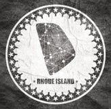 Rhode - wyspa stanu mapa obraz royalty free