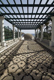 Rhodes. The landscape of ruins of kalithea terms stock photo