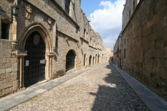 Rhodes. Avenue of the Knights royalty free stock photos