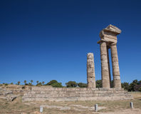 Rhodes Acropolis stockfoto