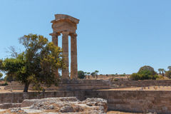 Rhodes Acropolis Columns Fotografia Stock Libera da Diritti