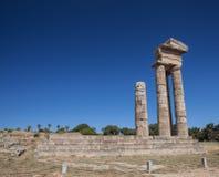 Rhodes Acropolis Stock Photo