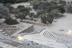 Rhodes Antique Amphitheater Imagem de Stock