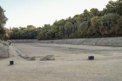 Rhodes Antique Olympic Stadium Arkivbilder