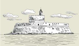 Rhodes antyczny fort Fotografia Stock
