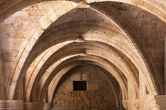 Rhodes archaeological museum the medieval building of the Hospital of the Knights. Royalty Free Stock Photography