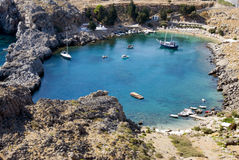 Rhodes beach - Greece Stock Image