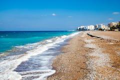 Rhodes Beach Greece Royaltyfria Foton