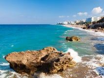 Rhodes Beach Greece Royalty Free Stock Photo
