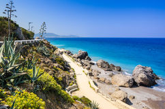 Rhodes beautiful sea coast Stock Photo