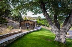 Rhodes Cabin - parque nacional del gran lavabo - panadero, Nevada Imagenes de archivo