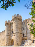 Rhodes Castle Greece Europe Imagem de Stock