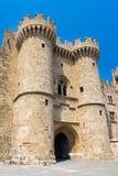 Rhodes Castle Greece Europe Stock Afbeeldingen