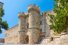 Rhodes Castle Greece Europe. The Palace of the Grand Master of the Knights of Rhodes, Greece Europe Royalty Free Stock Photos