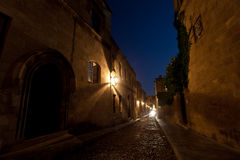 Rhodes castle at night. Royalty Free Stock Photo