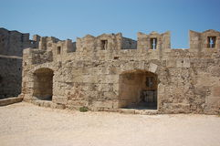 Rhodes City Walls. The Ancient City Walls of Rhodes stock photography