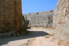 Rhodes city walls. The ancient city walls of Rhodes, Greece Royalty Free Stock Photos