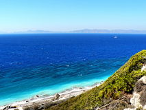 Rhodes coast stock photography