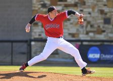 Rhodes College Baseball Pitcher Stock Photography