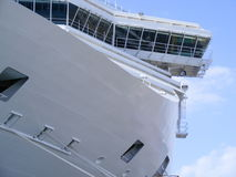 Rhodes Cruise Ship. A huge cruise ship docked in Mandraki Harbour on the Dodecanese Greek island of Rhodes Stock Photos