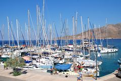 Rhodes Cup yachts, Tilos Royalty Free Stock Photography
