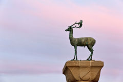 Rhodes Deer statue closeup Royalty Free Stock Photos