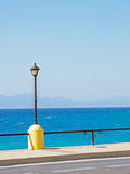 Rhodes embankment Royalty Free Stock Images