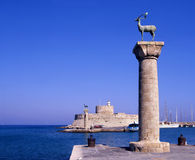 Rhodes entrance royalty free stock images