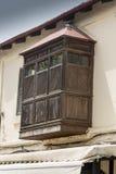 Rhodes för fjärdfönster gammal stad Arkivbilder