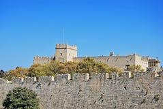 rhodes för slott för grandmastersgreece landmark gammal town royaltyfri foto