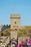 rhodes för slott för grandmastersgreece landmark gammal town arkivbilder