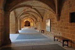 rhodes för slott för grandmastersgreece landmark gammal town royaltyfria foton