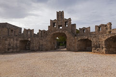 Rhodes fortifications Royalty Free Stock Photo