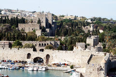 Rhodes fortifications Royalty Free Stock Image